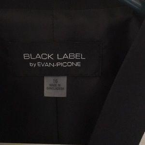 Black Label Jackets & Coats - Cream jacket black lapels size 16 looks like linen